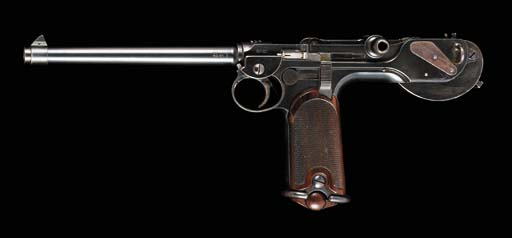 A BORCHARDT 7.65MM 1893 AUTOMATIC PISTOL BY LUDWIG LOEWE, NO. 657