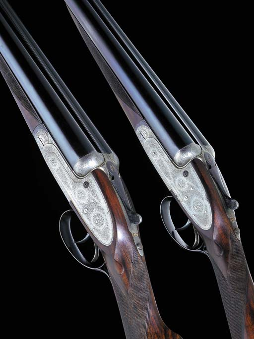 A PAIR OF 12-BORE SINGLE-TRIGG