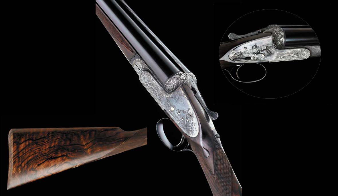 AN EXCEPTIONAL KELL-ENGRAVED 12-BORE (2¾IN) SINGLE-TRIGGER SIDELOCK EJECTOR GUN BY BOSS, NO. 4883