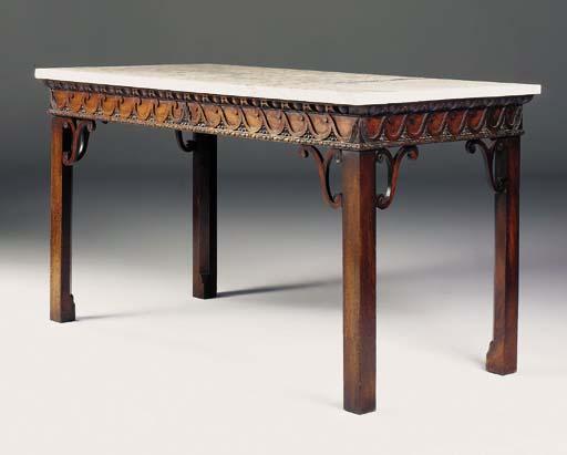 A LATE GEORGE II MAHOGANY SIDE TABLE