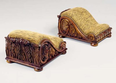 A PAIR OF GEORGE IV ROSEWOOD F