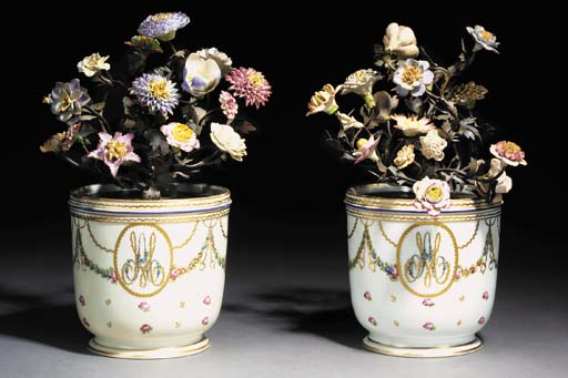 A PAIR OF PARIS SCEAUX FILLED