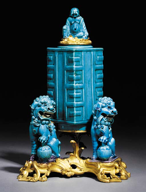 AN ORMOLU-MOUNTED CHINESE TURQ