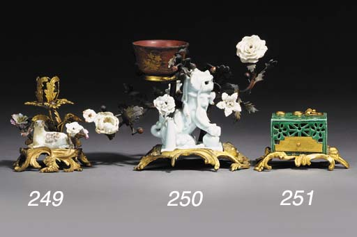 A FRENCH ORMOLU, CHINESE PORCE