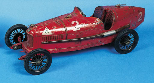 Alfa Romeo A Clockwork Tinplate Toy Model Of The 1925 P2 French