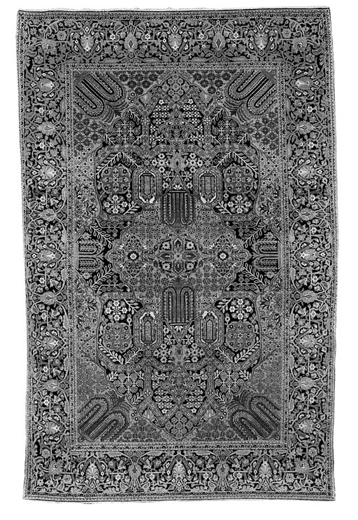 A fine Kurk Kashan rug