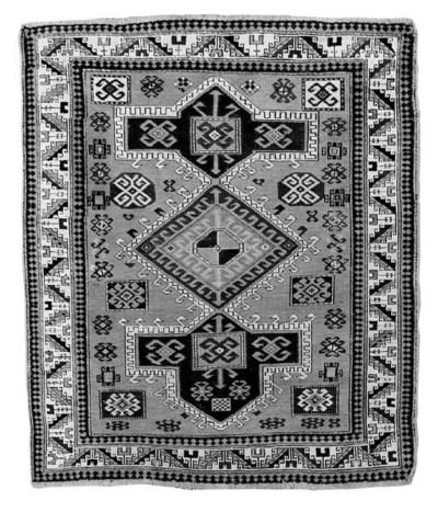 A fine antique Kazak rug