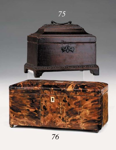 A George II mahogany tea caddy