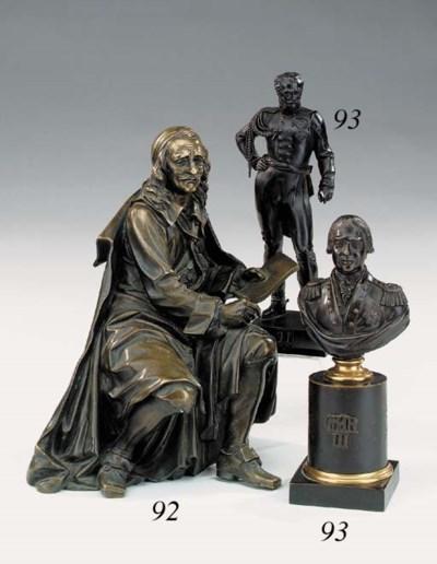 A Regency bronze bust of King
