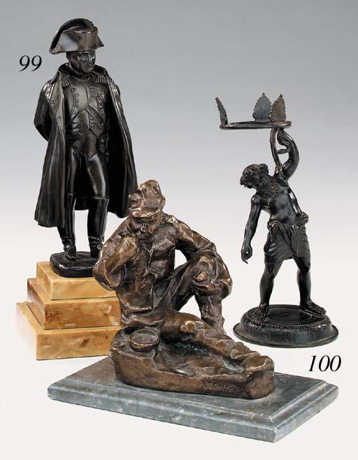 A Neapolitan bronze figure of