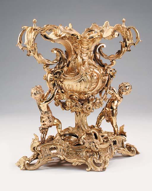 A large Continental gilt bronz
