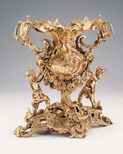 A large Continental gilt bronz