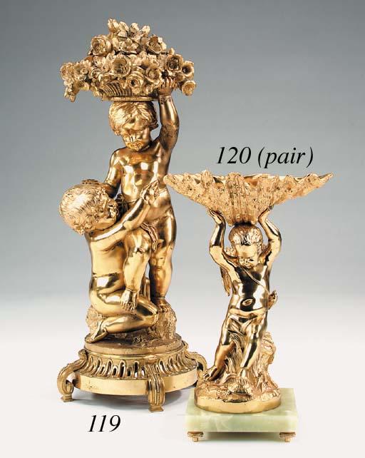 A French gilt bronze centrepie