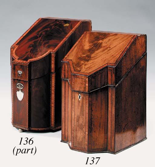 A George III flame mahogany an