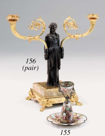 A Viennese silver and enamel n