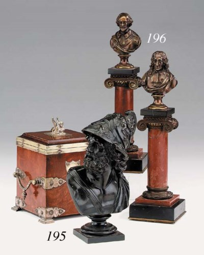 A pair of Victorian bronze and