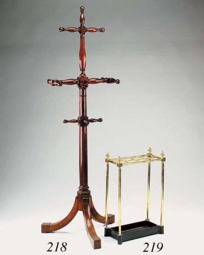 An English brass stick stand,