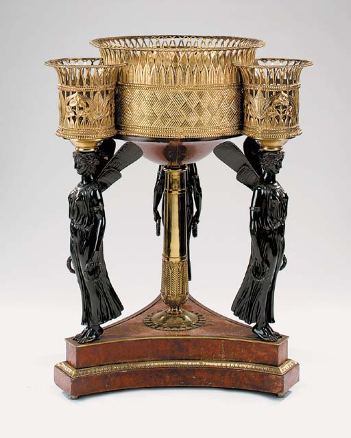 An Empire style gilt bronze ja