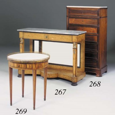A French fruitwood, parquetry