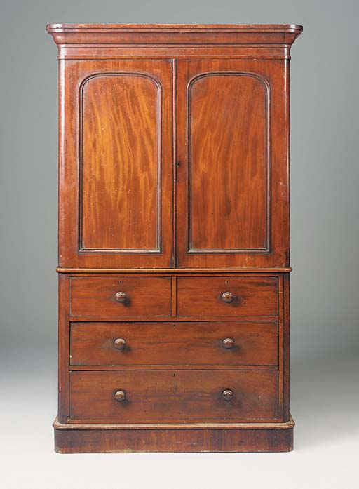 A mid-Victorian mahogany linen