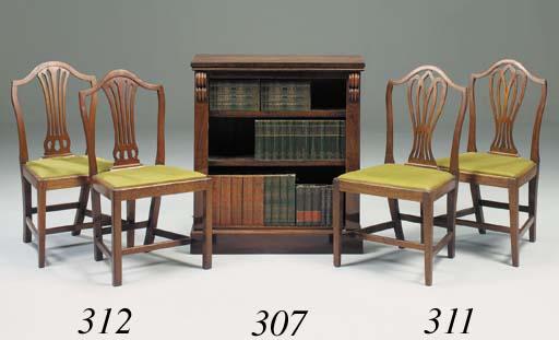 A set of five George III mahog