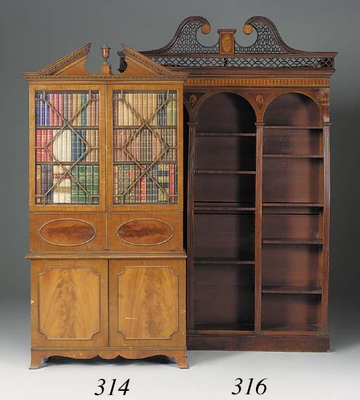 A mahogany X-ray cabinet, earl