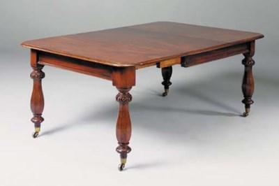 A late Victorian mahogany exte