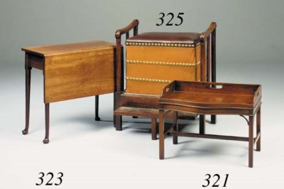 A mahogany tray-on-stand, 18th