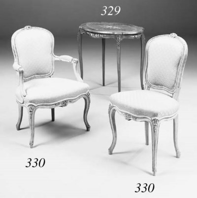 A set of four French stained b