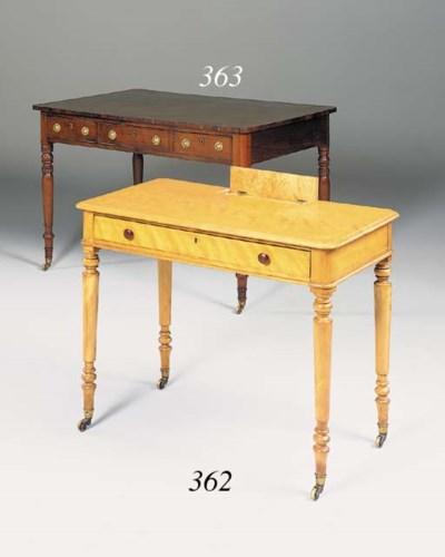 A Victorian birch writing desk