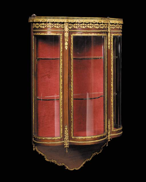 A mahogany, gilt-metal mounted