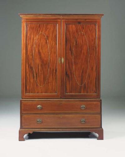 A George III mahogany and late