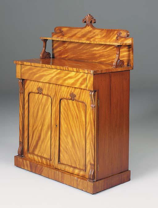 A William IV satin-birch chiffonier