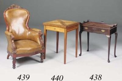 A mahogany armchair, mid 19th