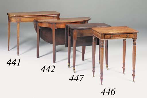 A mahogany tea table, 18th century and later