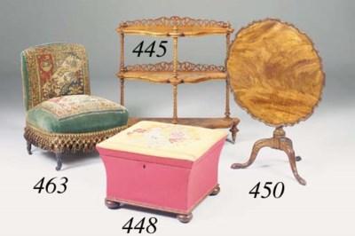A Victorian upholstered box ot