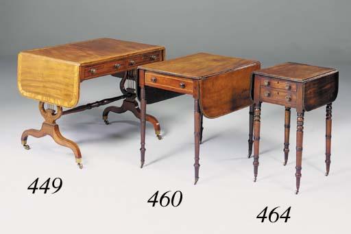 A mahogany rosewood and satinwood-banded sofa table, 20th century