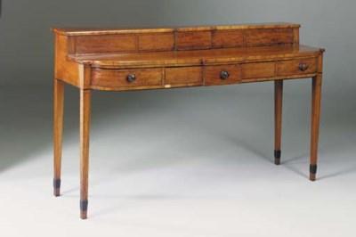 A Scottish mahogany and ebony