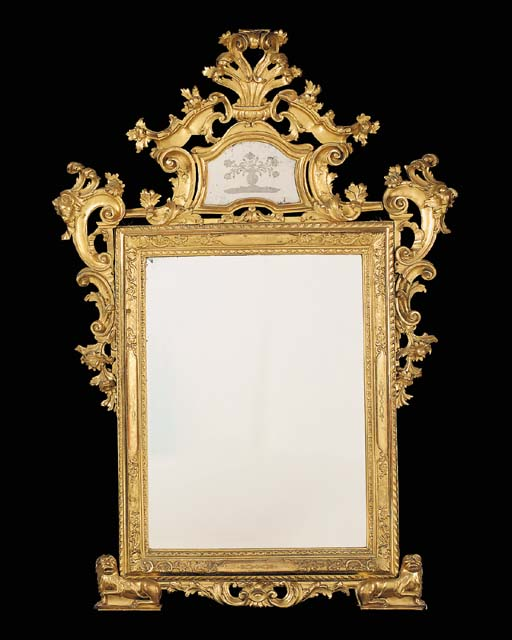 A French giltwood and composti