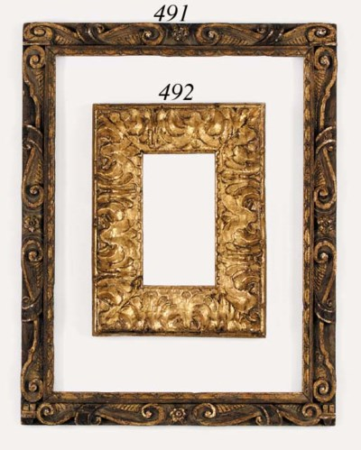 An Italian carved and gilded f