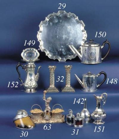 A George III drum teapot