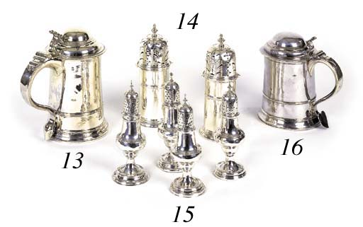 Four George III silver casters
