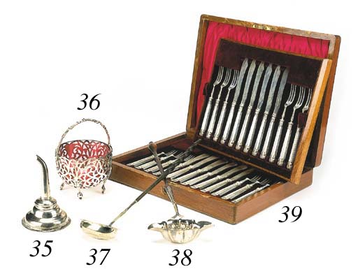 A cased set of fruit knives an