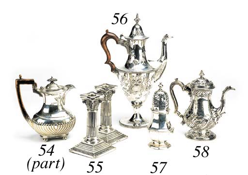 A George I silver baluster cas