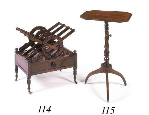 A Regency mahogany three-divis