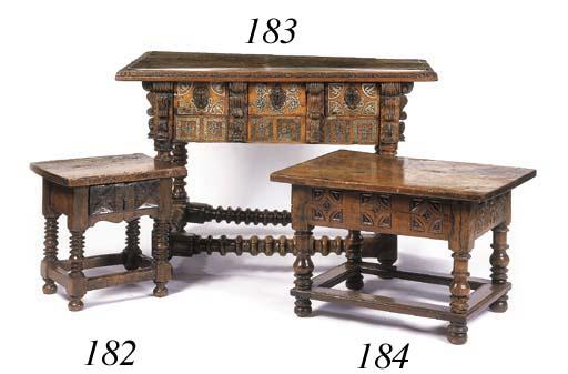 A Spanish walnut low table