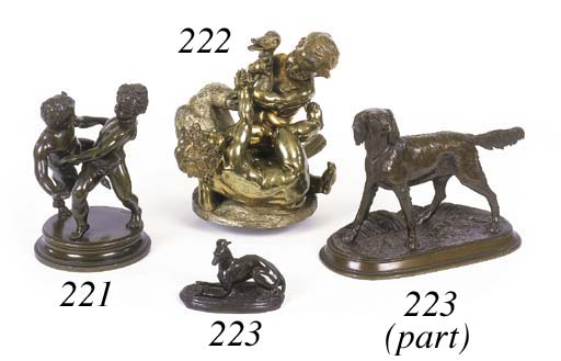 A French bronze group of two d
