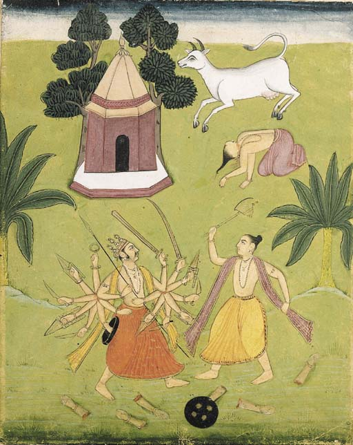 Parasurama slaying Kartavirya