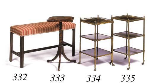A mahogany long stool