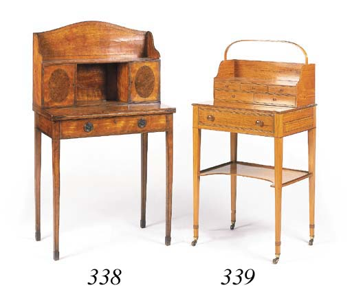 An Edwardian satinwood chevere